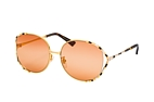Gucci GG 0595S 003 Gold / Orange perspective view thumbnail