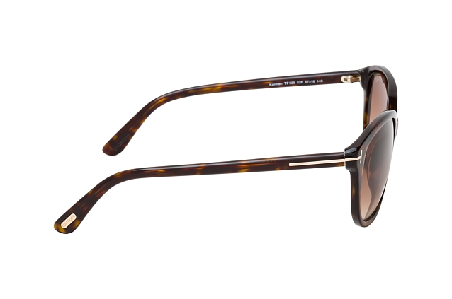 Tom Ford Karmen FT 0329 / S 52F vista en perspectiva