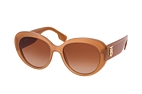 Burberry BE 4298 3834 Marron / Brun vue en perpective Thumbnail