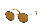 Ray-Ban ROUND CRAFT RB 3475Q 9040 L Blauw / Goudkleurig / Bruin perspective view thumbnail