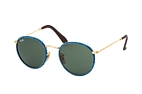 Ray-Ban ROUND CRAFT RB 3475Q 9040 L Blauw / Goudkleurig / Groen perspective view thumbnail