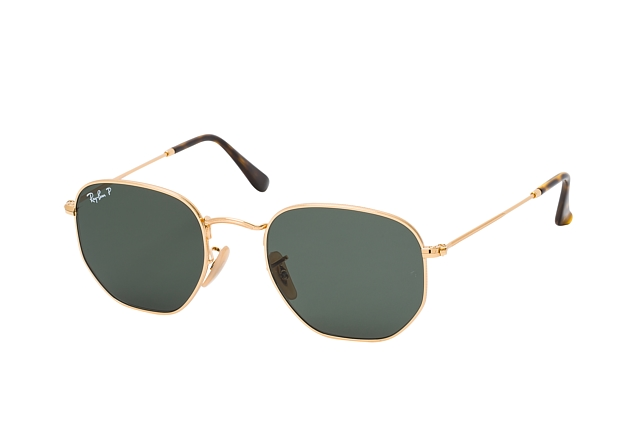 Ray-Ban Hexagonal RB 3548N 001/58 vista en perspectiva
