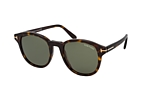 Tom Ford Jameson FT 0752 01D Havana / Verde perspective view thumbnail