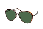 Tom Ford Vittorio FT 0749 54N Havana / Plateado / Verde perspective view thumbnail