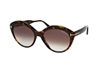 Tom Ford Maxine FT 0763 52K Havana / Brown perspective view thumbnail