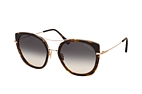 Tom Ford Joey FT 0760 55B Havana / Dorado / Gris perspective view thumbnail
