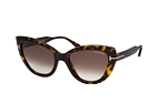 Tom Ford Anya FT 0762 52K Havana / Brown perspective view thumbnail