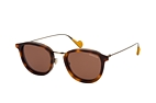 MONCLER ML 0126 01R Havana / Brown / Brown perspective view thumbnail