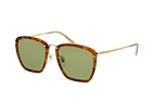 Gucci GG 0673S 001 Havana / Gold / Green perspective view thumbnail