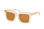 Bottega Veneta BV 1005S 001 Beige / Transparent / Brown perspective view thumbnail