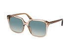 Tom Ford Faye FT 0788 45P Marrón / Transparente / Verde perspective view thumbnail