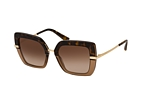Dolce&Gabbana DG 4373 32448G Havana / Gold / Brown perspective view thumbnail