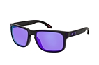 Oakley Holbrook OO 9102 F0 large Negro / Marrón perspective view thumbnail