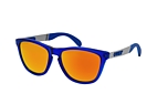 Oakley Frogskins Mix OO 9428 01 Blue / Silver / Polarised green perspective view thumbnail