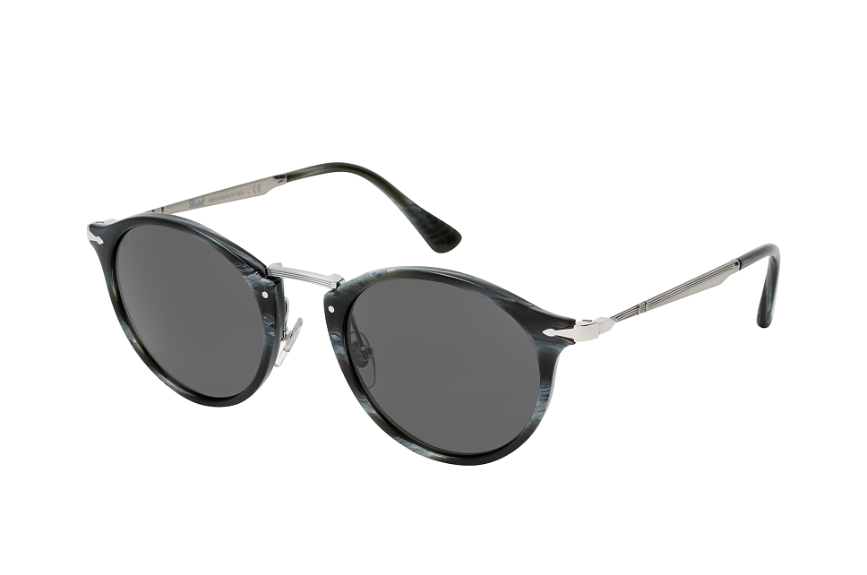 persol -  PO 3166S 1114B1, Runde Sonnenbrille, Herren