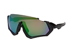 Oakley Flight Jacket OO 9401 01 Grau / LilaPerspektivenansicht Thumbnail