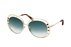 Chloé DELILAH CE 169S 838 Gold / Blue perspective view thumbnail