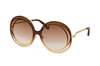 Chloé CARLINA CE 170S 221 Brown / Gold / Brown perspective view thumbnail