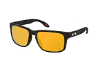 Oakley Holbrook OO 9102 E8 large Black / Brown perspective view thumbnail