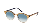 Ray-Ban Clubround RB 4246 990 Beige / Blue / Blue perspective view thumbnail