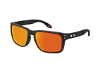 Oakley Holbrook OO 9102 E2 large Negro / Gris perspective view thumbnail