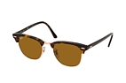 Ray-Ban Clubmaster RB 3016 114517 smal Havana / Brown perspective view thumbnail