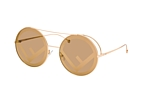 Fendi FF 0285/S 807.MD Gold / Brown perspective view thumbnail