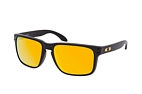 Oakley Holbrook XL OO 9417 22 Black / Polarised brown perspective view thumbnail