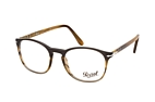 Persol PO 3007V 24 large Brown / Black perspective view thumbnail