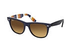 Ray-Ban Wayfarer RB 2140 902 large Blue / Brown perspective view thumbnail