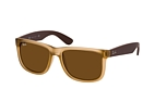 Ray-Ban Justin RB 4165 646880 Marrón / Marrón perspective view thumbnail