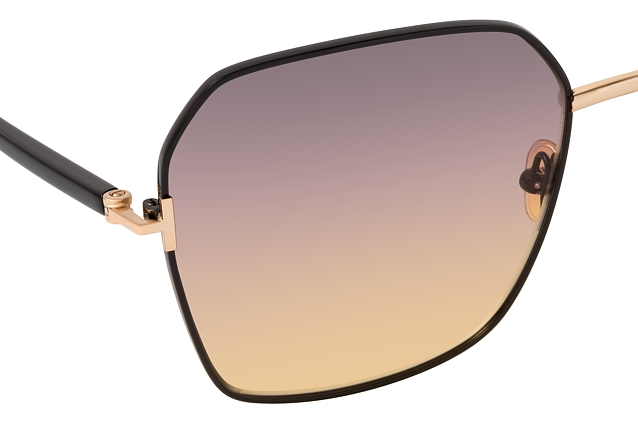 Tom Ford Claudia-02 FT 0839 01B vue en perpective