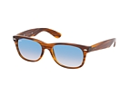 Ray-Ban New Wayfarer RB 2132 6309/71 L Havana / Azul perspective view thumbnail