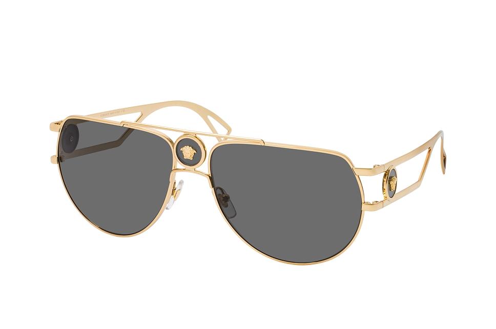 versace -  VE 2225 100287, Aviator Sonnenbrille, Herren