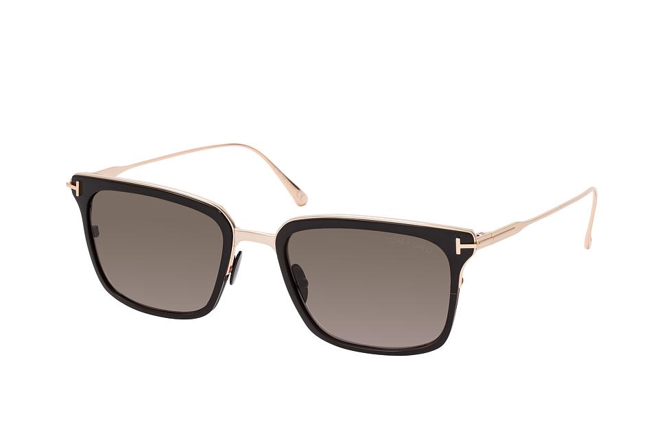 tom ford -  Hayden FT 0831 01K, Quadratische Sonnenbrille, Herren, in Sehstärke erhältlich