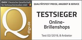DtGV Testsieger Online Brillenshops